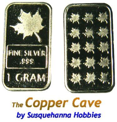 Cmc 1 Gram Silver Bar Maple Leaf